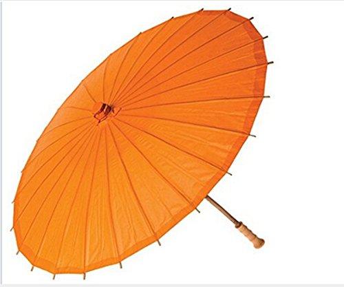 ANKKO Bambus-Sonnenschirm im chinesischen japanischen Stil, Orange