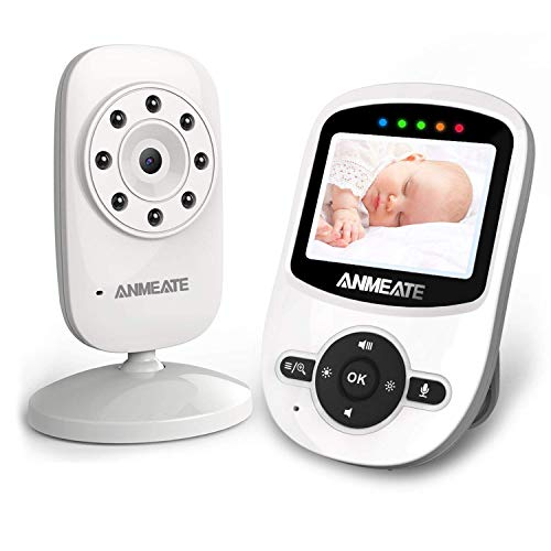 Video Baby Monitor with Digital Camera, ANMEATE Digital 2.4Ghz Wireless Video Monitor with Temperature Monitor, 960ft Transmission Range, 2-Way Talk, Night Vision, High Capacity Battery (1 Camera)