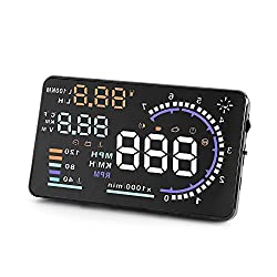 small A8 HUD Heads Up Display Vehicle Speedometer, OBDII EUOBD, 5.5 inch Universal Digital …