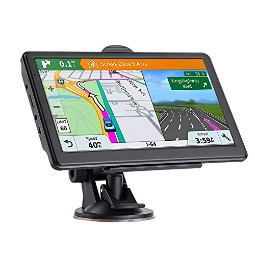 GPS Navigation for Car 7 Inch Touch Screen HD 256-8GB Navigation System,Pre-Installed Maps of North America, Lifetime Map Update, Vehicle GPS Satellite Navigation,Comes with European Map SD Card