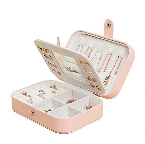YZCX - Petite boîte à Bijoux de Voyage - Organiseur de Bijoux - Cadeau pour Femme - Anniversaire, Saint Valentin, fête des mères Rosa Arancione