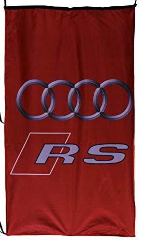 AU-DI RS Flaggen-Banner, vertikal, Rot