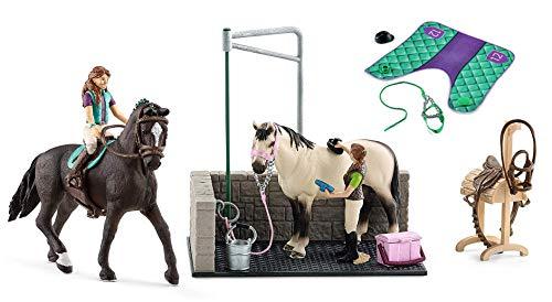 3in1-SET Schleich Pferde Horse Club - Lisa & Storm mit extra Pferdedecke und Waschplatz 42413 + 42461 + 42104