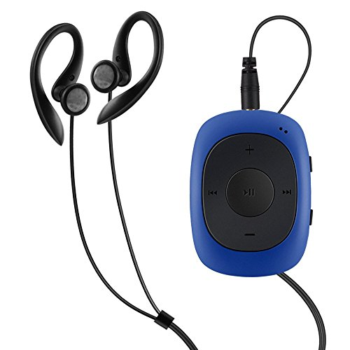 AGPtek Badge G02 - Lettore MP3 Clip con Pinza e Funzione Radio FM,Lettore Musicale Portatile con Protettore in Silicone Supporto dei Formati MP3, WMA, WAV, 8 GB per Eseguire Esercizi di Yoga,Blu