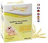 Smoopeel Depilación en polvo sin afeitar 300 G, forma natural de depilación Unisex para todas las partes del cuerpo en polvo con trigo