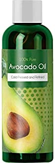 Pure Cold Pressed Avocado Oil For Hair Skin Nails - Natural Dry Skin Face Moisturizer - Collagen Boosting Anti Aging Combat Fine Lines and Wrinkles - Dry Scalp Treatment Anti Dandruff Hair Growth Oil