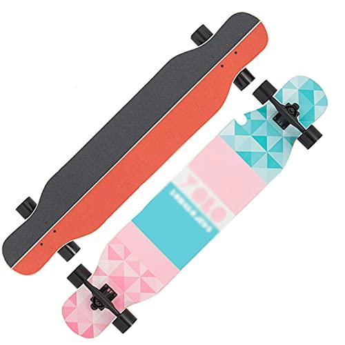 HCH Skateboard, Vierräder-Doppel-Rocker-Langbrett, Erwachsener Teenager-Jungen und Mädchenanfänger gehen auf der Straße, Ahorn-Cruiser Professional Skateboard