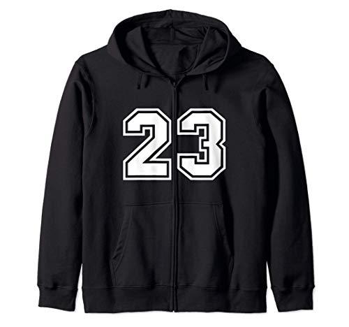 Camiseta de equipo número #23 regalo deportivo Sudadera con Capucha