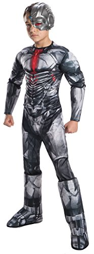 Justice League Deluxe Boy's Cyborg Fancy Dress Costume Large