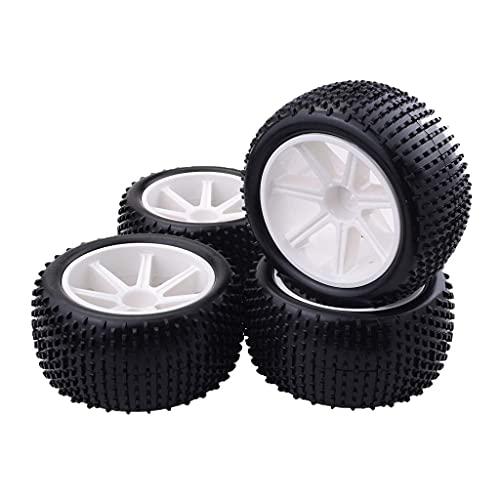 Fingerorthese.LQ 4 Piezas 1/10 RC Buggy neumáticos y Llantas de Ruedas para 1/10 HSP Hongnor ZD Racing LRP VRX Redcat FTX Crawler Car ( Color : Default )