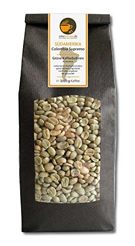 Rohkaffee - Grüner Hochland Kaffee Colombia Supremo (grüne Kaffeebohnen 1000g)