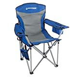 coleman quad cooler - Wakeman Outdoors Heavy Duty Camp Chair-850lb High Weight Capacity Big Tall Quad Seat-Cup Holder, Cooler, Carrying Bag-Tailgating, Camping, Fishing