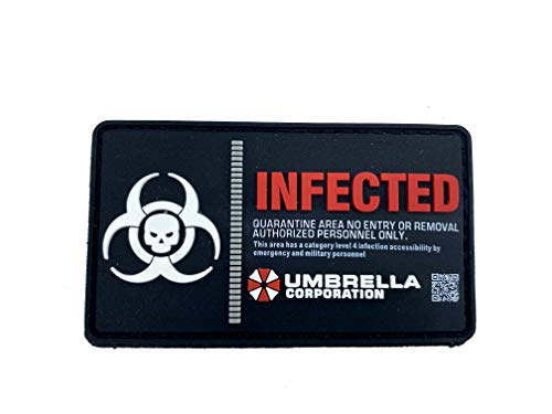 Umbrella Corporation Infected Morale Patch PVC Airsoft Paintball Klett Emblem Patch Abzeichen