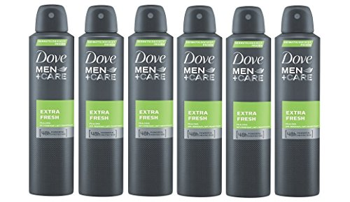 Dove Men Extra Fresh 48h Spray, International Version, 150 ml (6-Pack)