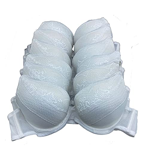 6 pcs Max Lift Power Wired Add 2 Cup Sizes T-Shirt Double Push Up Bra (34C)