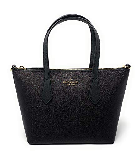 "Kate Spade Glitter Bag Small Satchel Joeley Zip Closure With Optional Ajustable Shoulder Strap Interior 2 Slide Pockets and Custom Kate Spade Nylon Signature Lining Shoulder Strap Drop Approx. 20 - 23"" and Hand Held strap Drop 5"" Approximate Dimentio..."