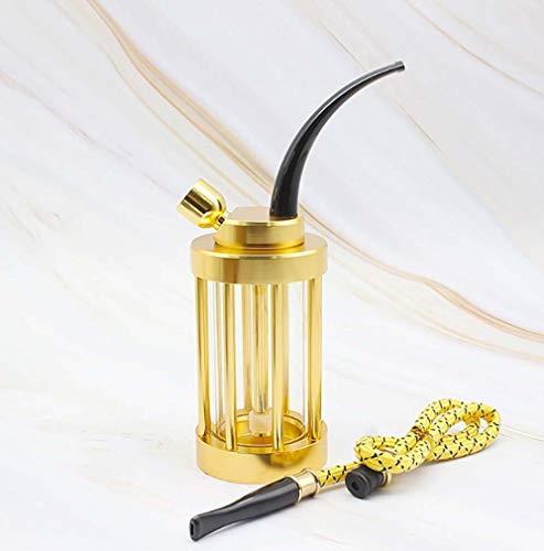 Zwq&zj Acht-Säulen-Shisha aus transparentem Dual-Use-Glas, kreativer Dual-Use-Wasserfilter aus Leder mit Aluminiumschale,B