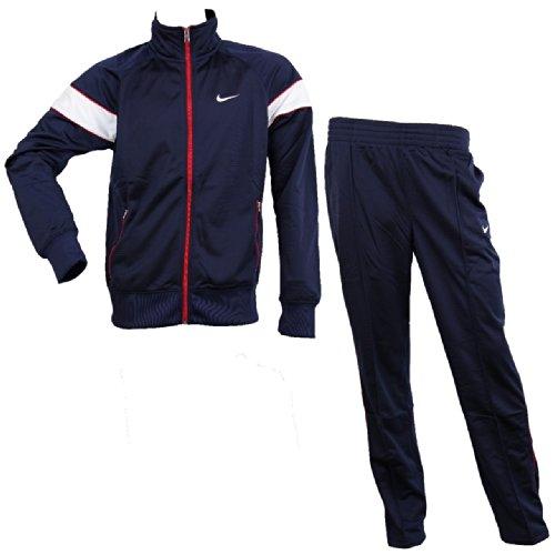 NIKE Hybrid Trainingsanzug Men Herren Jogginganzug Sportanzug, Farbe:Navy;Bekleidung:L