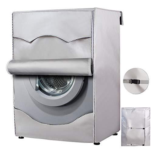 Mr.You Copertura Lavatrice per Esterno per Le lavatrici ,Coperchio Protettivo Impermeabile per Asciugatrice della Lavatrice-(60x64x85cm)