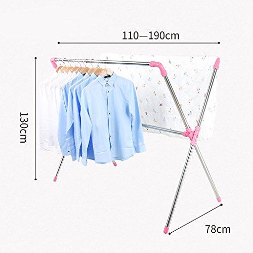 Tendederos de ropa plegables tendederos de balcón balcones de secado simples tendederos para bebés tendederos ( Color : D )