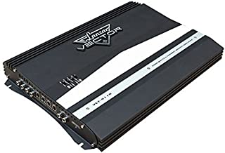 4-Channel High Power MOSFET Amplifier - Slim 2000 Watt Bridgeable Mono Stereo 4 Channel Car Audio Amplifier w/Crossover Frequency and Bass Boost Control, RCA Input and Line Output - Lanzar VCT4110