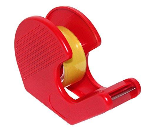 Acan Dispensador de celo con Rollo pequeño en Color Rojo