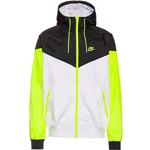 Nike Small Logo Windbreaker Jacke (M, White/Volt)