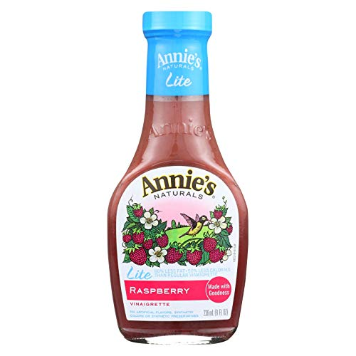 Annies Homegrown Lite Raspberry Vinaigrette, 8 Ounce (Pack of 6)
