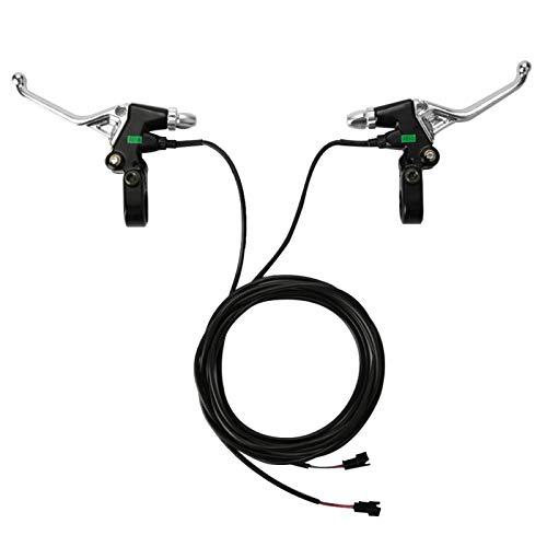 BOTEGRA Empuñadura de Manillar de Freno de 0,8-2,4 V, Accesorio de Bicicleta eléctrica Empuñadura de Manillar de Freno Repelente al Agua de aleación de Aluminio Resistente y Duradera para