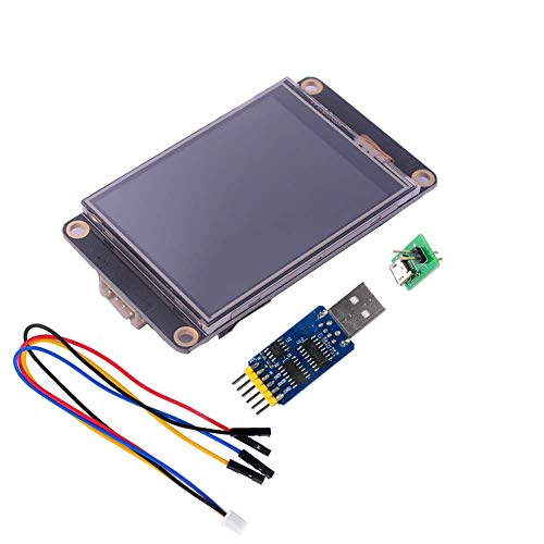 Nextion Enhanced 2.8 inch Display NX3224K028 Resistive Touch Screen HMI UART LCD Module 320x240 + CP2102 USB to TTL Adapter Serial Module for Arduino Raspberry Pi