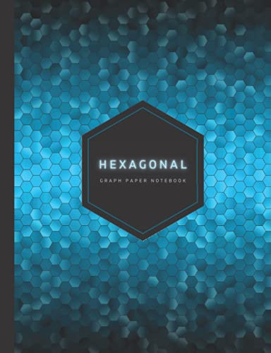 Hexagonal Graph Paper Notebook: Hexagon Grid Graph Paper Composition Notebook for Organic Chemistry, RPG Map Making Tiles, Math & Science – 100 Pages, ... Lab Notebook & Gamer Gifts (Cool Blue)