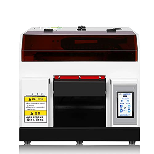 UV Flatbed Printer,A4 Automatic UV Printer with Touch Screen, Digital Printer for ID Card,Wood,Cell Phone Case,Glass Metal Surface Printing Machine-DHL Shopping