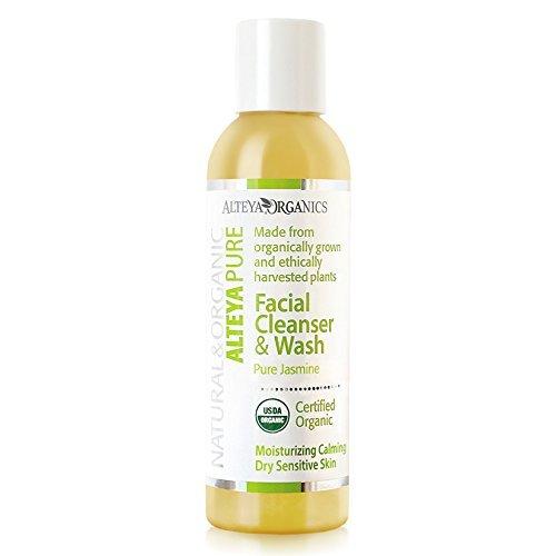 Alteya Organic Nettoyant et lavage pour le visage 150ml - Jasmin pure - Certifié organique USDA Savon 100% Biodégradable - Hydratant et calmant pour peau sèche et sensible