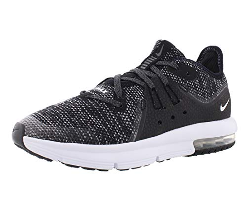Nike Air Max Sequent 3 Boys Shoes Size 1, Color: Black/White