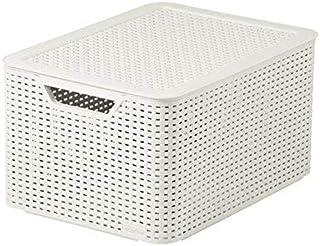Curver Style Boîte de rangement Blanc vintage L 30 l 44 x 33 x 23 cm