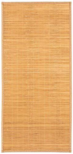 Teppich Bambus Läufer Naturteppich Bambusmatte In- und Outdoor (65 x 140 cm)