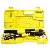 Set di strumenti idraulici per crimpare, crimpatura, bricolage, pinza strumenti, per crimpare cavi batteria, 8 punte, 4-70 mm²