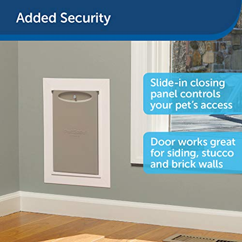 PetSafe New Wall Entry Dog and Cat Door - Pet Door with Telescoping Tunnel - Large