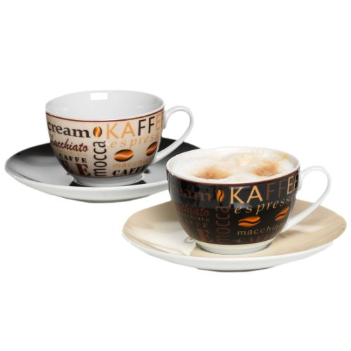 Ritzenhoff & Breker Havanna Cappuccino, 2er Set, hochwertiges Porzellan, spülmaschinengeeignet, 548143