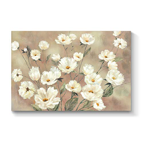 Abstract Flower Canvas Wall Art: Floral Artwork Picture Painting for Living Room (36'' x 24'' x 1 Panel)