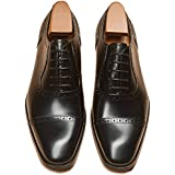 Alipasinm Men's Oxford Lace Up Genuine Leather Formal Office Dress Shoes 11 Black