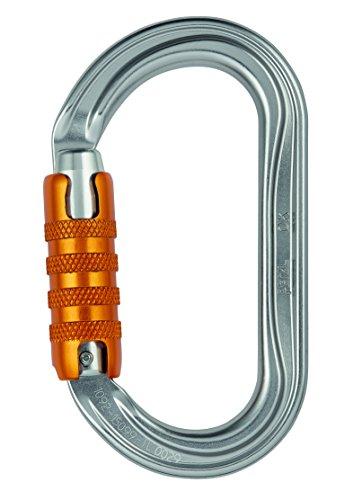 PETZL Uni Ok Triact-Lock Schraubkarabiner, Gray, Einheitsgröße