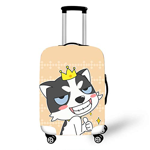 Elastic Luggage Cover, CNNINHAO 3D Print Trolley Case Protective Travel Suitcase Anti Scratch Dustproof Resistant Case Trolley Skin Protector Elasticized Washable (Dog-3,M (22-24inch))