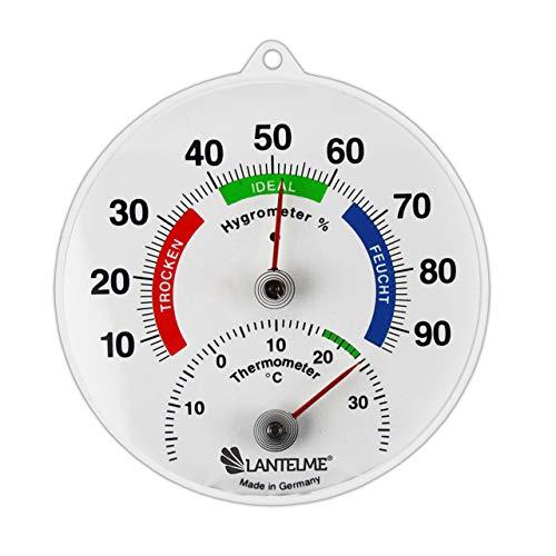Lantelme Kombi Thermometer Hygrometer Analog Bimetall Temperatur Luftfeuchte Innen Raumklima Deutsche Herstellung 4083