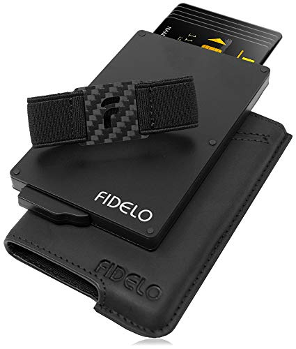 FIDELO Minimalist Wallets Card Wallet - Hybrid RFID Wallets for Men Slim Wallet