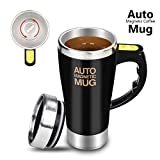 Dr. Prepare Stirring Mug, Self Stirring Coffee Mug, Stir Mug Self Stirring Cup & Auto Stirring Mug for Coffee Stirring, Office, Kitchen, Home, Travel, Gift Mug, Mix Cup -Black