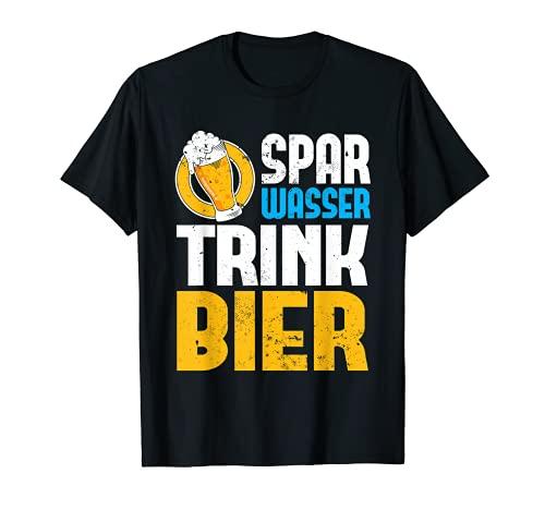 Spar Wasser Trink Bier | Biergarten Alkohol Party Bier T-Shirt