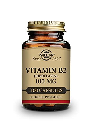 Solgar Vitamin B2 (Riboflavin) 100mg, 100 Vegetable Capsules - Energy Metabolism, Healthy Nervous...