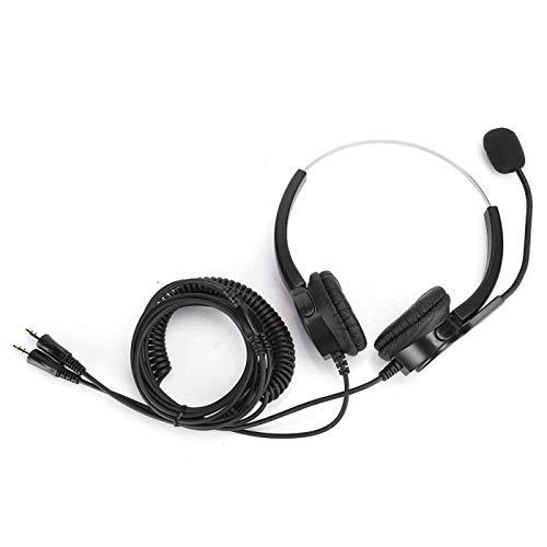DAUERHAFT Práctico Auricular binaural con micrófono Giratorio de 330 Grados con cancelación de Ruido, para Servicios de Asesoramiento telefónico, para Centro de Llamadas