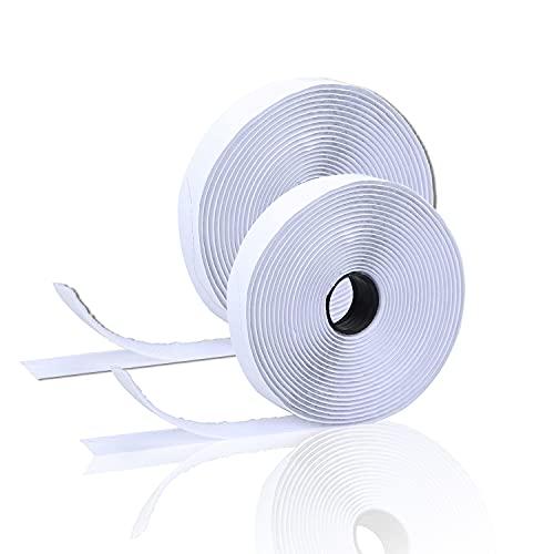 Killow Nastro Adesivo per Zanzariera,Hook Loop Adesivo Bianco, Ganci Nastro Adesivo per Lavori di Casa, Fai da Te, Lavori Fatti a Mano e DIY (15M*2)